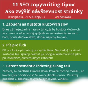 ťahák seo copywriting
