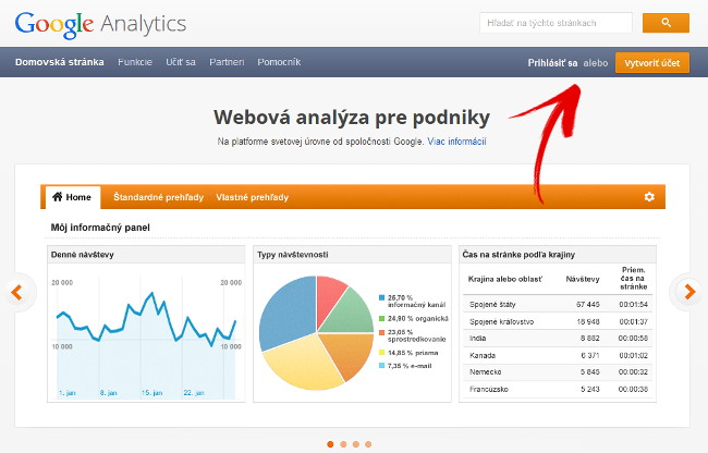 google analytics účet