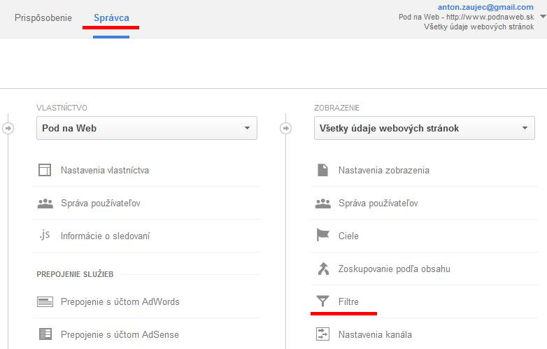 filter google analytics