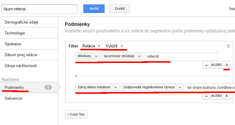 segmenty v google analytics