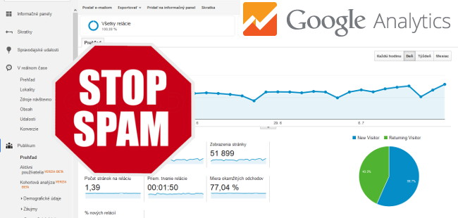 Spam v Google Analytics